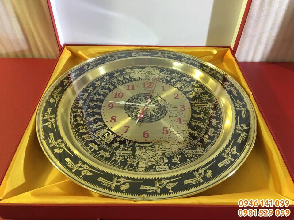 đồng hồ mặt trống bản đồ việt nam dk 54 cm