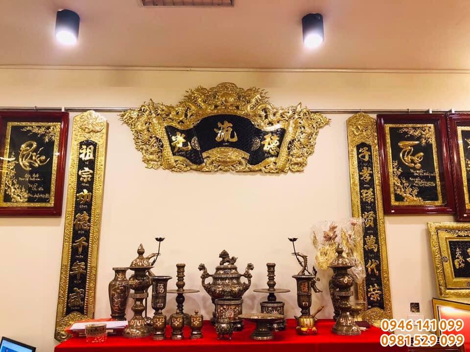 Mẫu bộ đồ thờ cúng gia tiên bằng đồng tại Hải Phòng tốt nhất