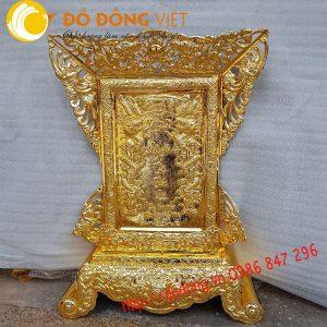 Bài vị bằng đồng, bài vị cửu huyền thất tổ mạ vàng 68x81cm
