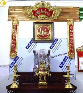 Báo giá bộ cuốn thư thư pháp bằng đồng 135 cm