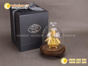 Quà tặng vàng 24k, cây trúc dát vàng