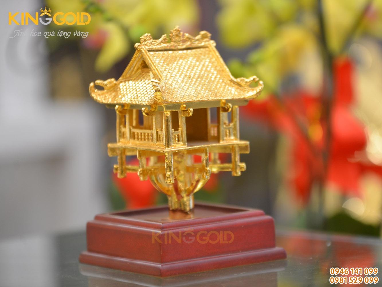 Chùa Một Cột mạ vàng 24k cao cấp của Đồ đồng Việt