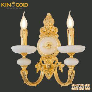 Đèn treo tường đúc đồng mạ vàng 24k mới nhất 2020
