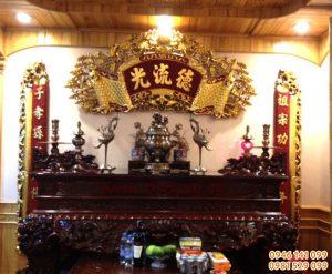 Bày trí bàn thờ ngày mùng 1, trang trí bàn thờ gia đình ý nghĩa