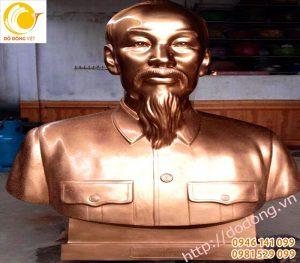 Tượng bán thân Hồ chủ tịch cao 90cm đồng đỏ nguyên khối
