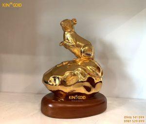 Tượng Chuột Mạ Vàng 24k Cao Cấp Làm Quà Tặng Sếp