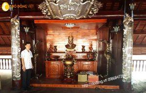 Phòng thờ Quốc tổ hùng vương, trang trí bàn thờ Vua hùng