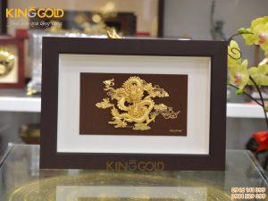 Tranh rồng vàng phú quý làm quà tặng Sếp dịp Tết 2020