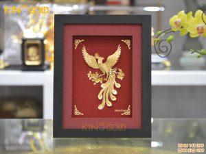 Quà tặng tranh vàng 24k- tranh chim phượng hoàng tung cánh