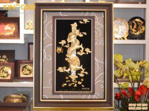 Tranh rồng phú quý vàng lá 24k- quà tặng VIP dịp Tết 2020