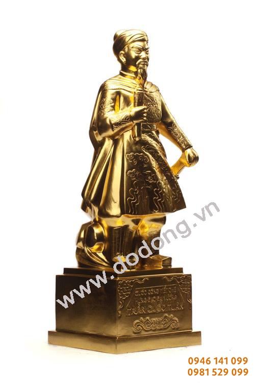 Tượng trần hưng đạo mạ vàng các kích thước