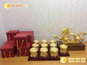 Trống đồng mạ vàng, quà tặng trống đồng lưu niệm