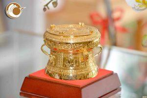 Giá bán trống đồng quà tặng mạ vàng dk 9cm