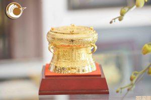 Trống đồng quà tặng đường kính 12cm, giá bán trống đồng