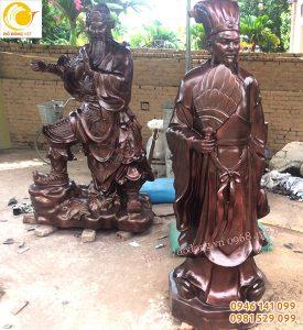 Đúc tượng đồng quan công, khổng minh, di lạc 1,8m tại Quảng Ninh