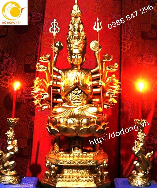 Nhận đúc tượng phật và dát vàng theo yêu cầu tại chùa,đền thờ,uy tín chất lượng cao