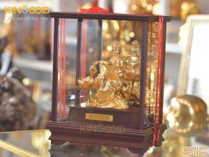 Tượng văn thù bồ tát mạ vàng 24k