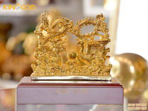 Quà tặng ngày cưới ý nghĩa- tượng rồng phượng bằng đồng mạ vàng