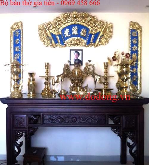 Hướng dẫn cách bày bộ đỉnh đồng dapha trên bàn thờ gia tiên