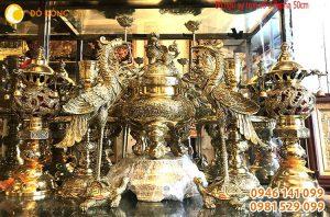 Bộ đỉnh đồng 7 món bày bàn thờ gia đình Việt