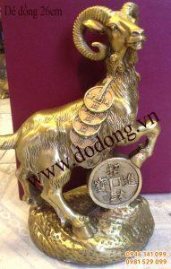 Bày tượng đồng dê để thu hút vận may dê đồng phong thủy
