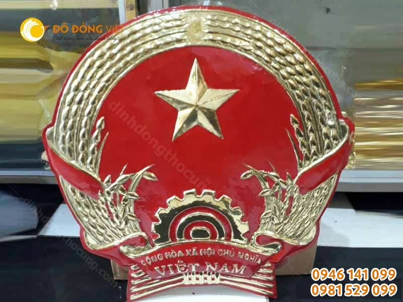 quốc huy bằng đồng tại hải phòng