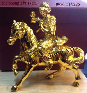 Tượng đồng khỉ phong hầu phong thủy mạ vàng 24k Phòng hầu