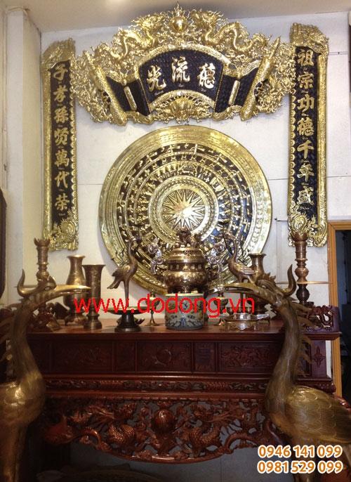 Mẫu bộ đồ thờ bác hồ, gia tiên, từ đường, đền thờ cao cấp tại Hải Phòng