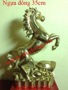 Tượng ngựa đồng đứng tiền vàng nguyên khối