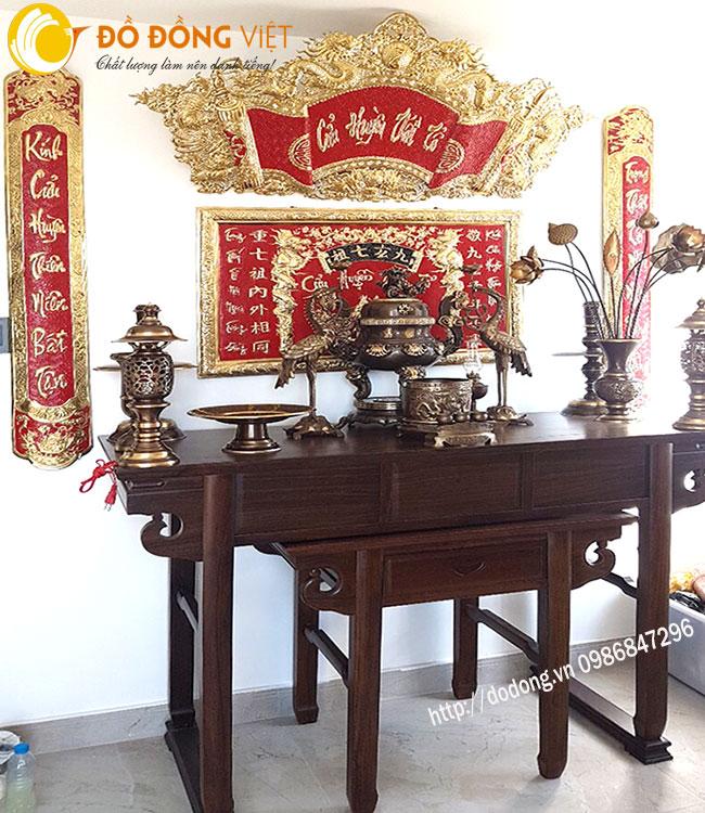 Mẫu trang trí bàn thờ cuur huyền thất tổ trong gia đình