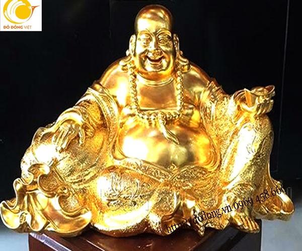 cac mẫu tượng đồng di lạc mạ vàng 24k đẹp, dát vàng tượng ông di lạc