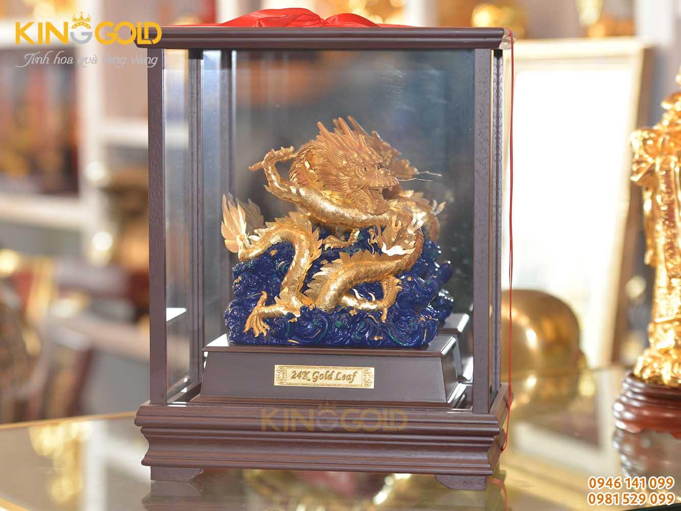 Tượng Rồng Mạ Vàng Có Hộp Đựng Sang Trọng